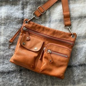 Fossil Orange Sutton crossbody bag
